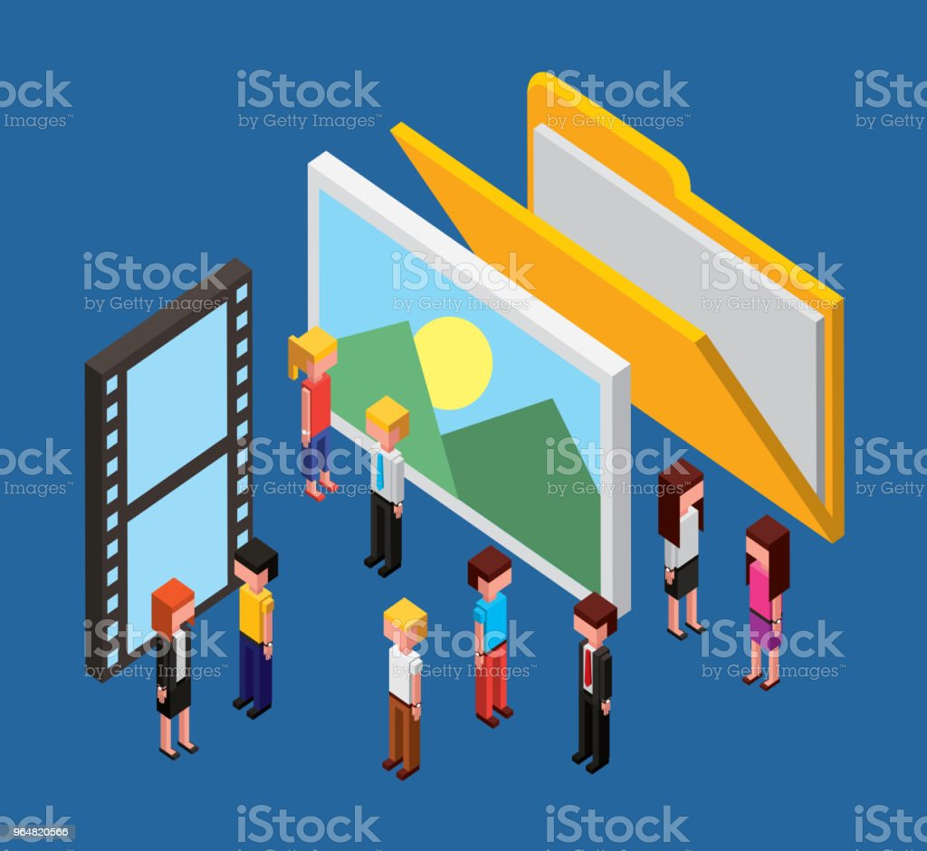people cloud computing storage royalty-free people cloud computing storage stock vector art & more images of arts culture and entertainment