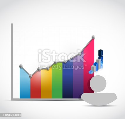People color graph color illustration design over a white background