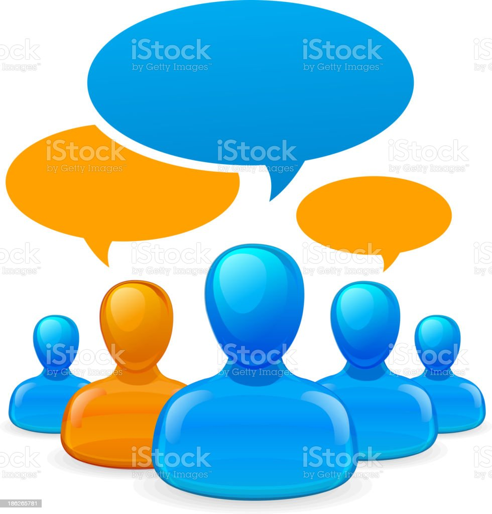 People communicating royalty-free stock vector art