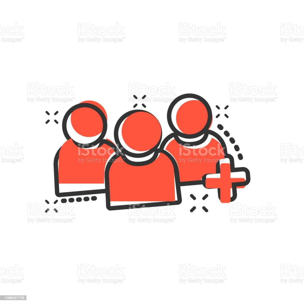 People communication user profile icon in comic style. People with...