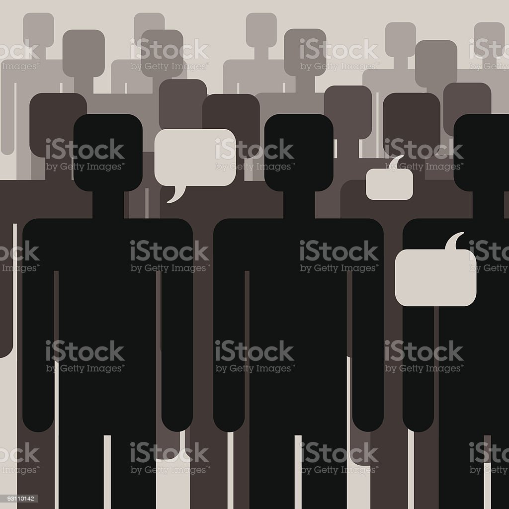 people- communication - Royalty-free Adamlar Vector Art