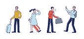 istock People cough spreading virus not wearing masks. Set of cartoon characters during covid pandemic 1271388619