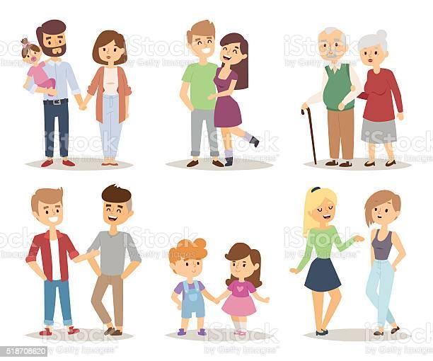 People couple relaxed cartoon vector illustration set vector id518708620?b=1&k=6&m=518708620&s=612x612&h=h9f rewxfquhwdg2wzild0zhlfxeh9jjo8isbsm9h0e=