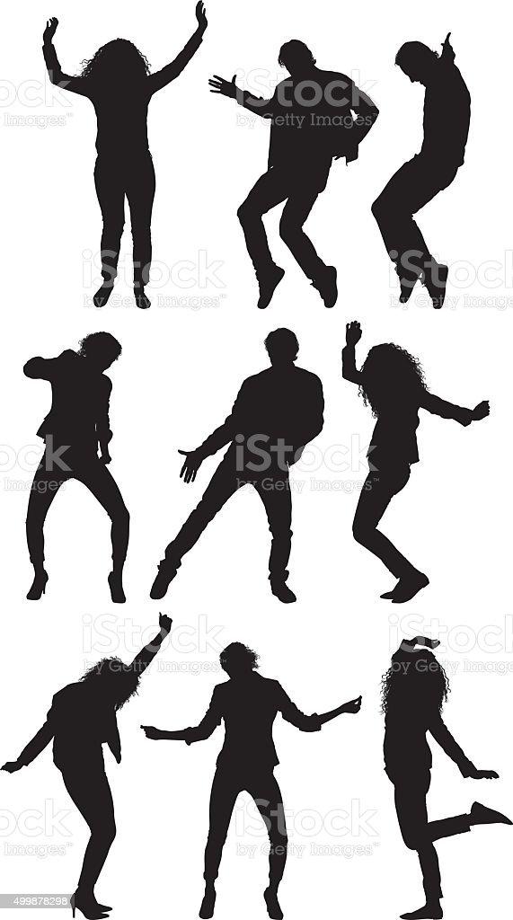 Gente baile - ilustración de arte vectorial