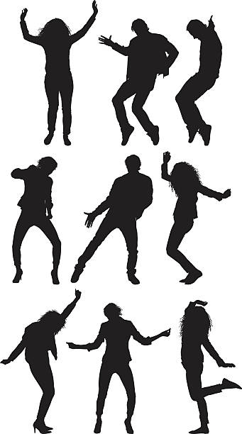 illustrazioni stock, clip art, cartoni animati e icone di tendenza di persone di danza - dance