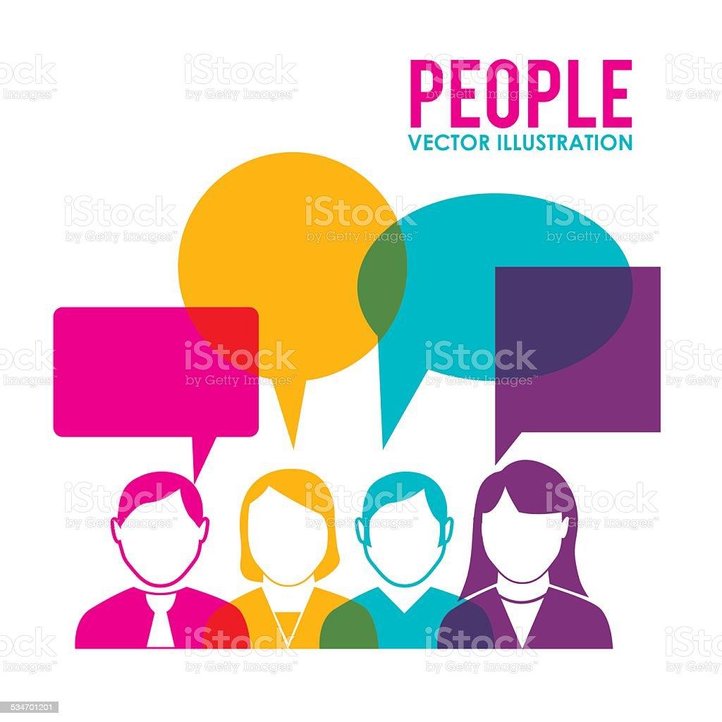 People design, vector illustration. vector art illustration