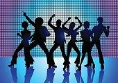 People Disco Dancing