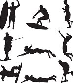 People enjoying multiple sports activities