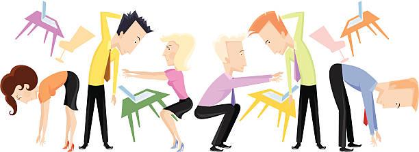 Ludzie ćwiczeń fizycznych. – artystyczna grafika wektorowa