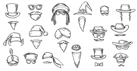 People Face Masks for App Doodles