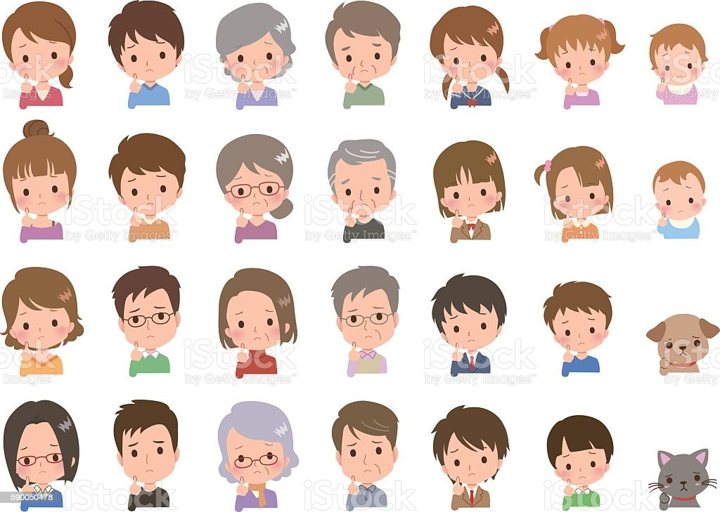 people face vector art illustration