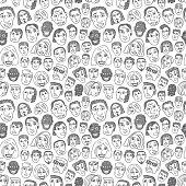 People faces seamless background