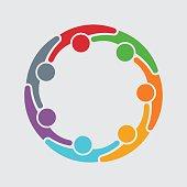 People Family Logo Illustration