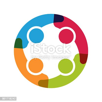 Four People Holding each other in circle