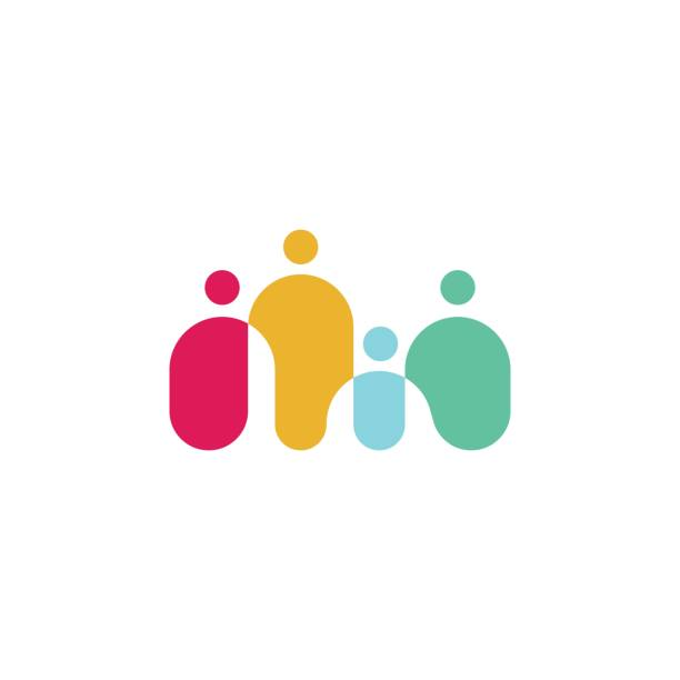 people family together human unity vector icon people family together human unity vector icon community symbols stock illustrations