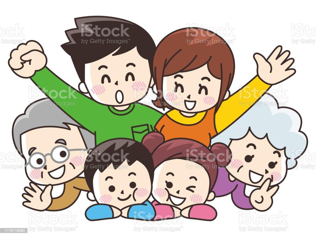 6人家族 代のベクターアート素材や画像を多数ご用意 Istock