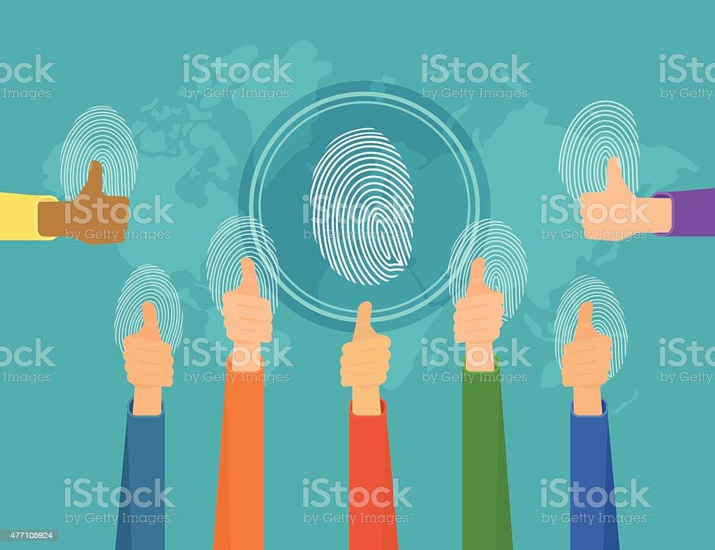 人々の指紋 ベクターアートイラスト