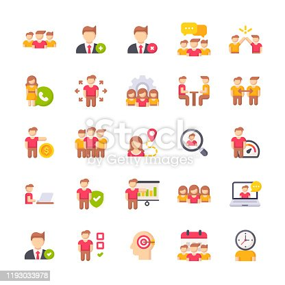 25 People Flat Icons.