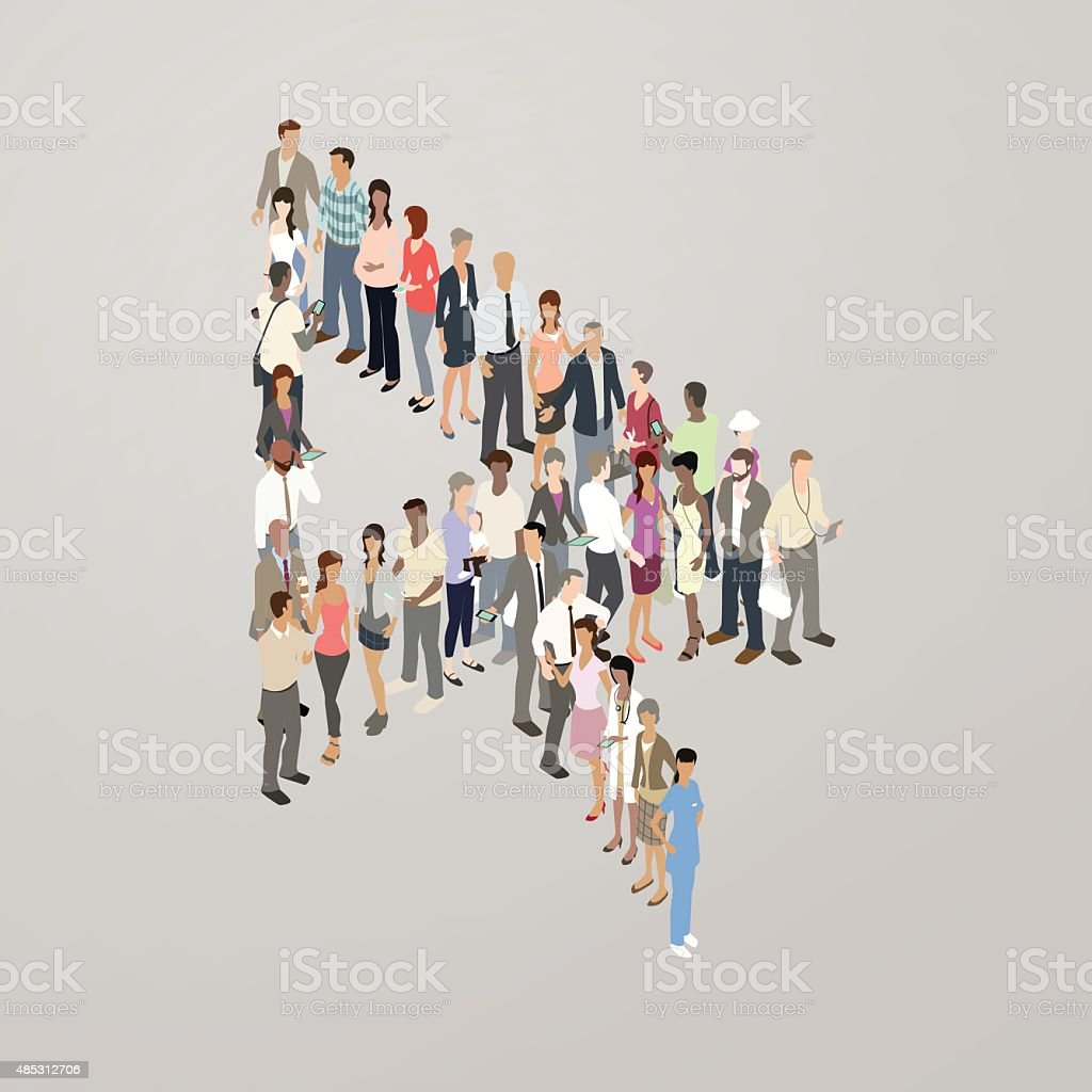 People forming cursor arrow royalty-free people forming cursor arrow stock vector art & more images of adult