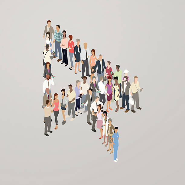 people forming cursor arrow - mathisworks people icons stock illustrations, clip art, cartoons, & icons
