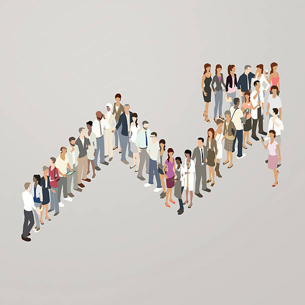 people forming increase arrow - mathisworks people icons stock illustrations, clip art, cartoons, & icons