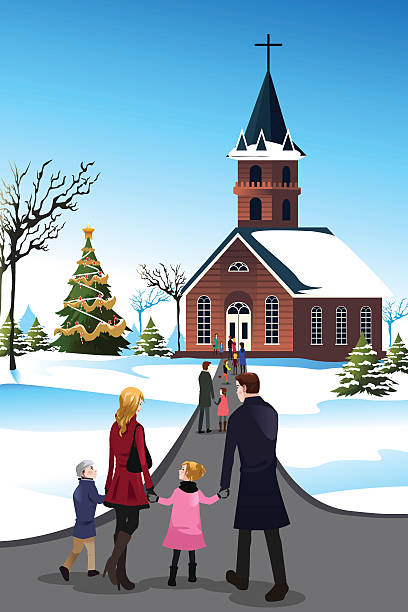 Top 60 Clip Art Of Family Going To Church Clip Art Vector Graphics