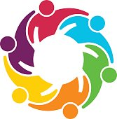 People Group Collaboration. Vector graphic design illustration