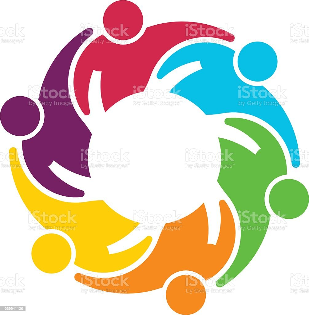 People Group Collaboration. Vector graphic design illustration vector art illustration