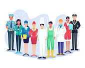 istock People group different occupation set 1220452140