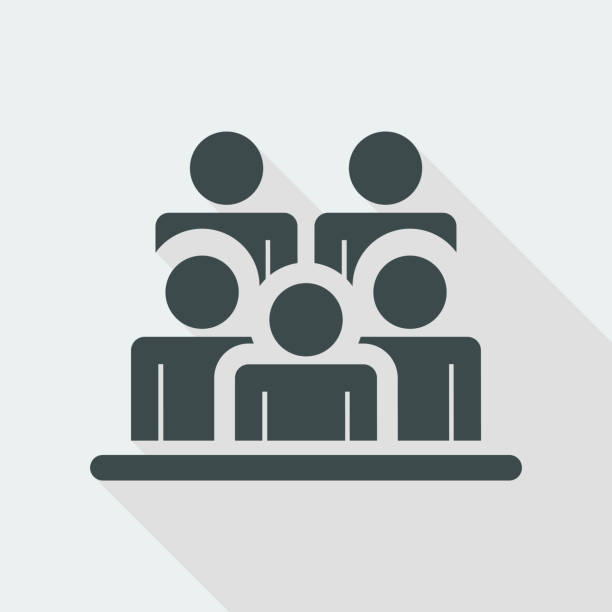 people group icon - group of people stock illustrations
