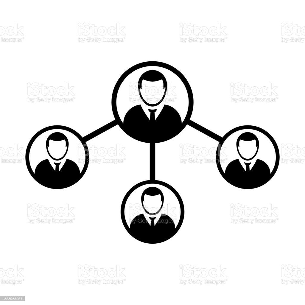 Menschengruppe Netzwerk Soziale Verbindung Symbol Vektor Männliche ...