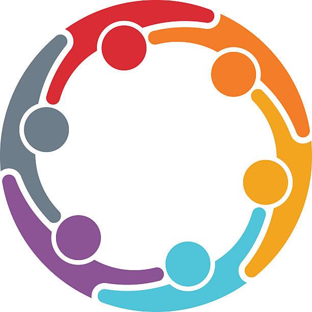 ilustraciones, imágenes clip art, dibujos animados e iconos de stock de grupo de personas de trabajo en equipo medio - reunión evento social