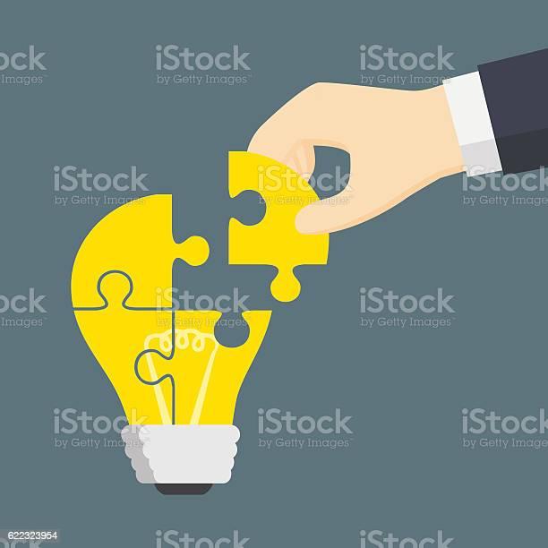 People hand put a part of light bulb puzzle vector id622323954?b=1&k=6&m=622323954&s=612x612&h=i claby9oomy0jsw6n j7ko5pslux xxfheeezefwui=