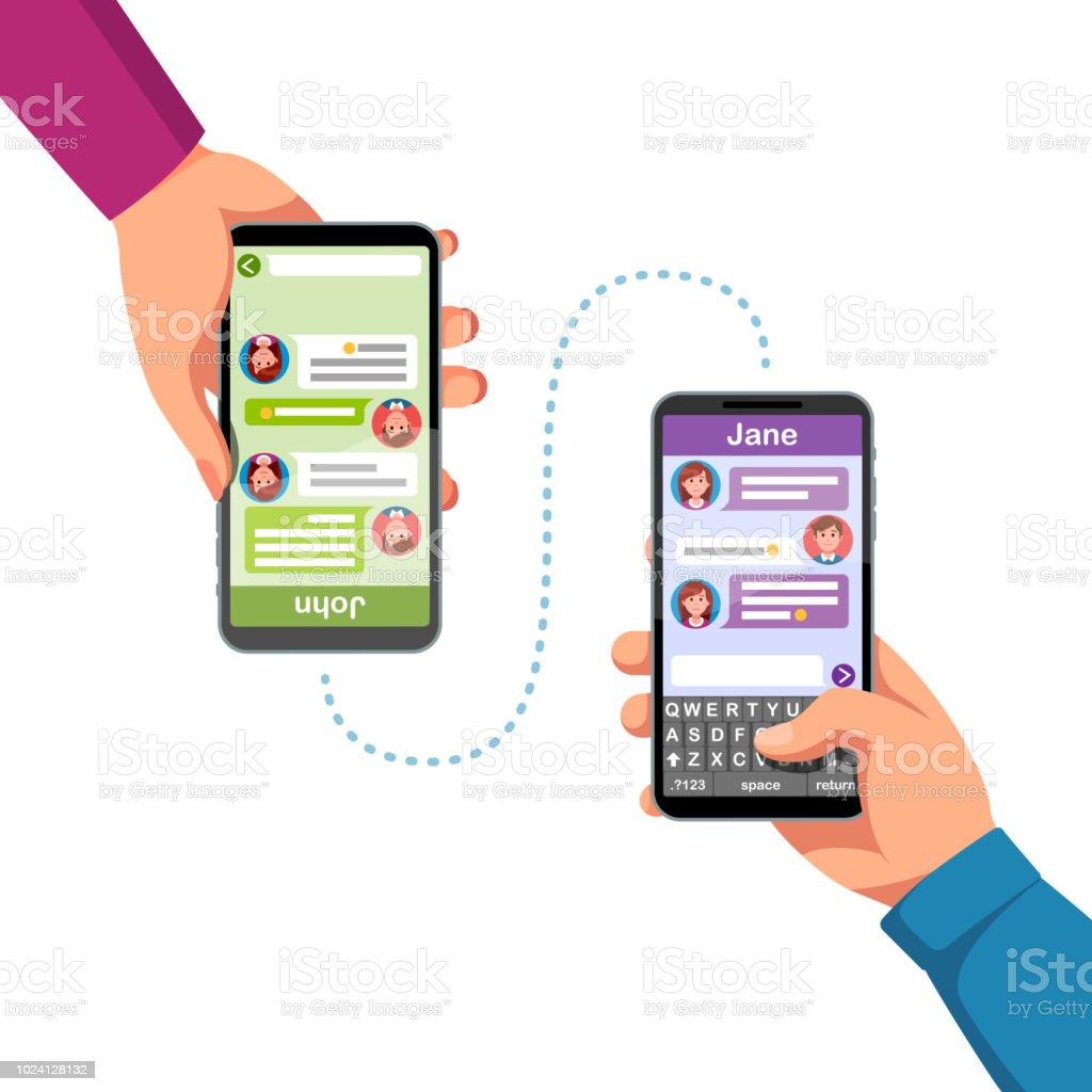 Online texting app