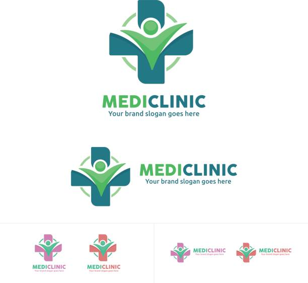 people Health Care icon, Medical clinic Emblem vector art illustration