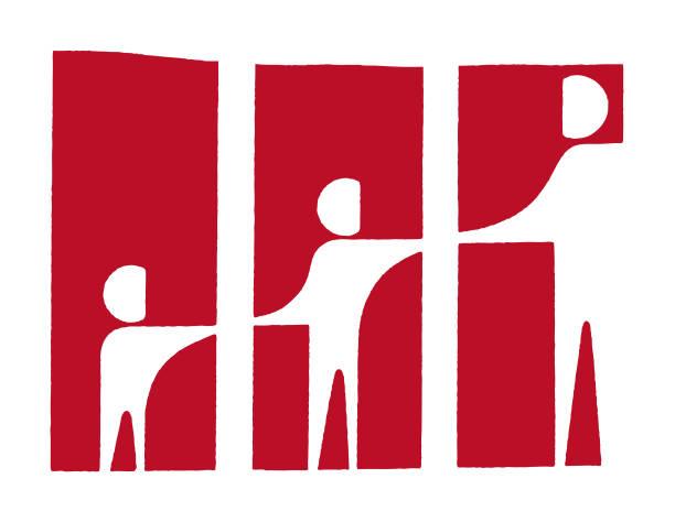 ilustrações, clipart, desenhos animados e ícones de pessoas segurando as mãos - reunião de família