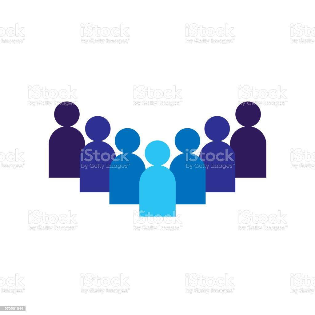 Personensymbol Unternehmencorporateteam Zusammen Arbeiten Soziales ...