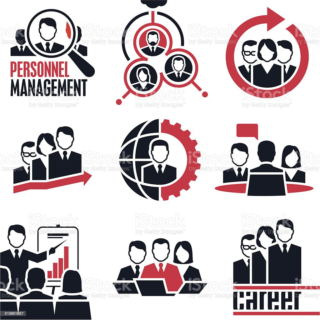 People icon. Business people. vector art illustration