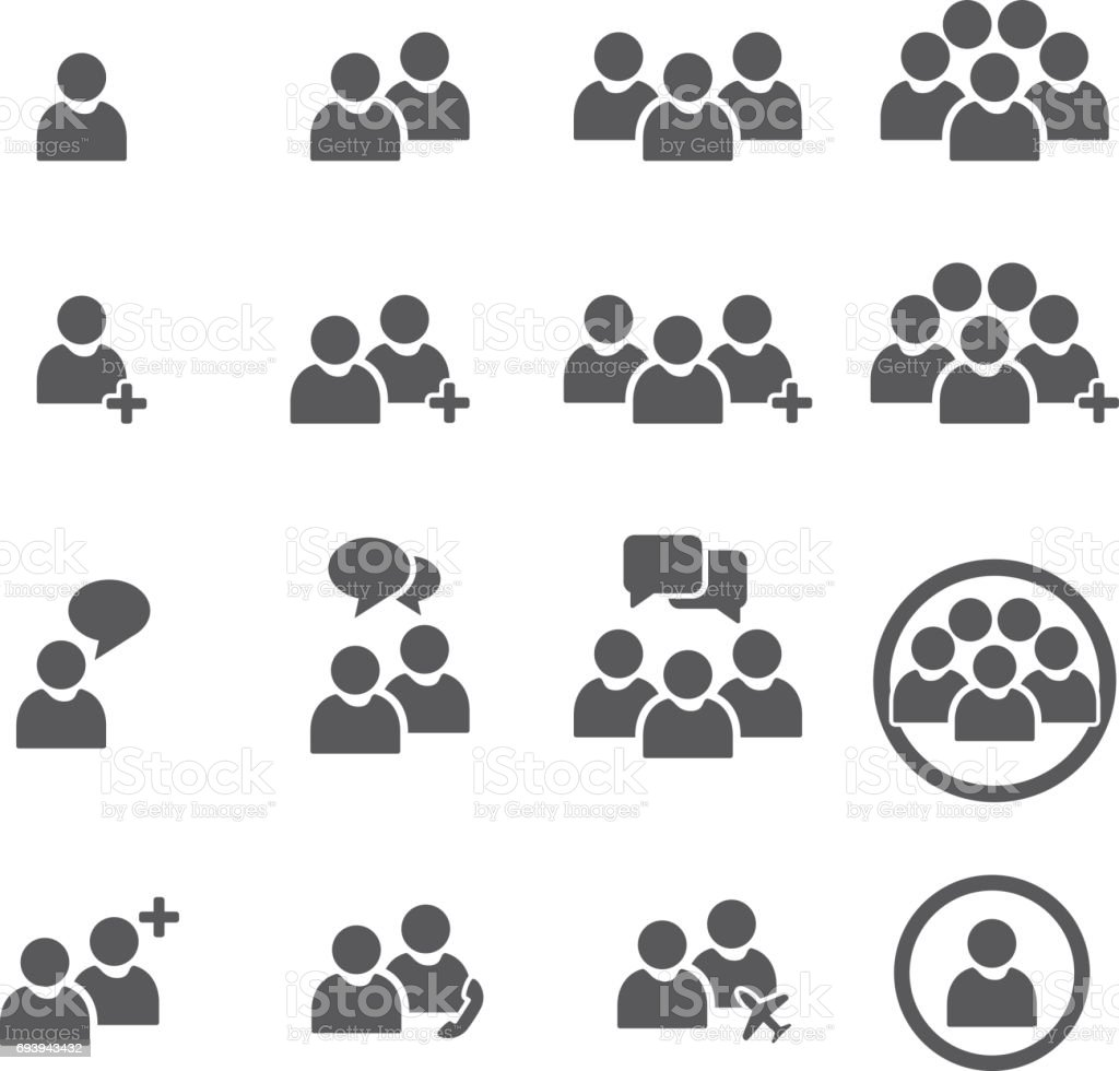 People Icon Business teamwork user Vector vector art illustration