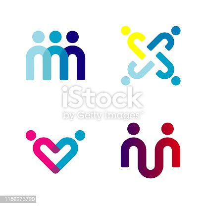 People Icon For Team Work, Family And Society Symbol