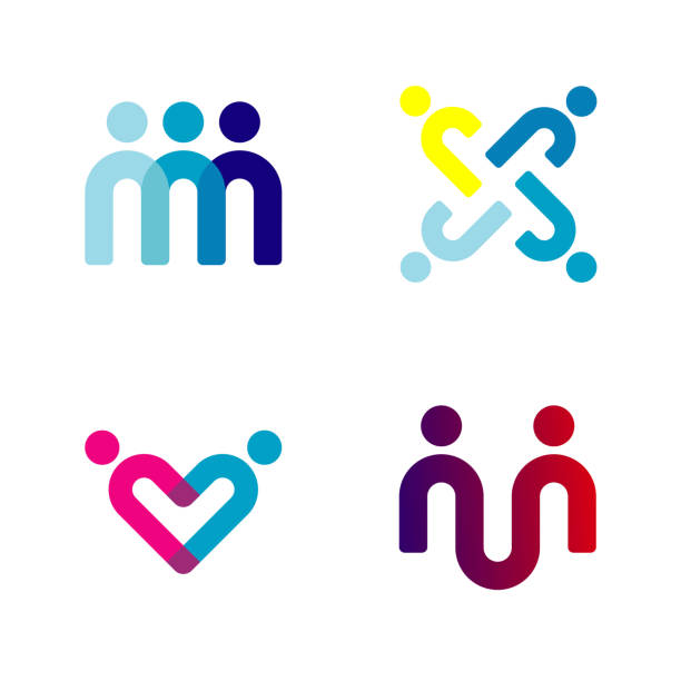 People Icon Design Vector People Icon For Team Work, Family And Society Symbol community icons stock illustrations