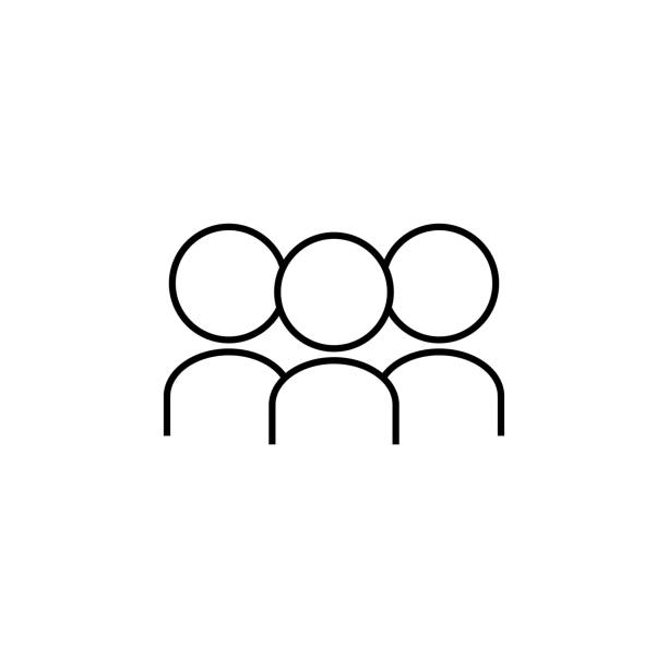 people icon. Element for mobile concept and web apps. Thin line  icon for website design and development, app development. Premium icon on white background people icon. Element for mobile concept and web apps. Thin line  icon for website design and development, app development. Premium icon on white background on white background people in a row stock illustrations