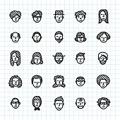 People Icon Hand Drawn Series Vector EPS File.