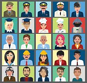 People Icon Set -Different Professions