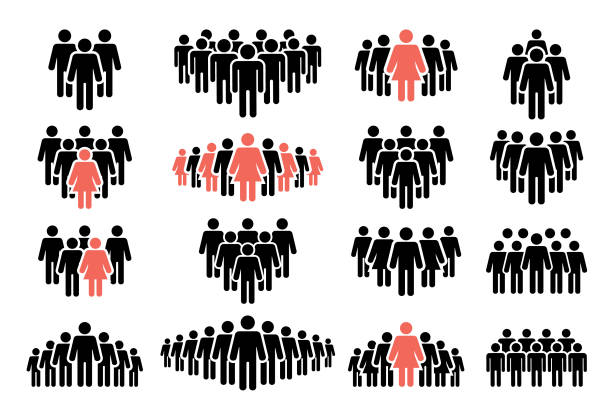 People icon set Vector illustration of the people icon set. Isolated on white background. person icon stock illustrations