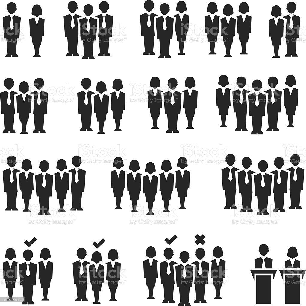 6d46efcc Ludzie Zestaw ikon ludzie zestaw ikon - stockowe grafiki wektorowe i więcej  obrazów administrator royalty-