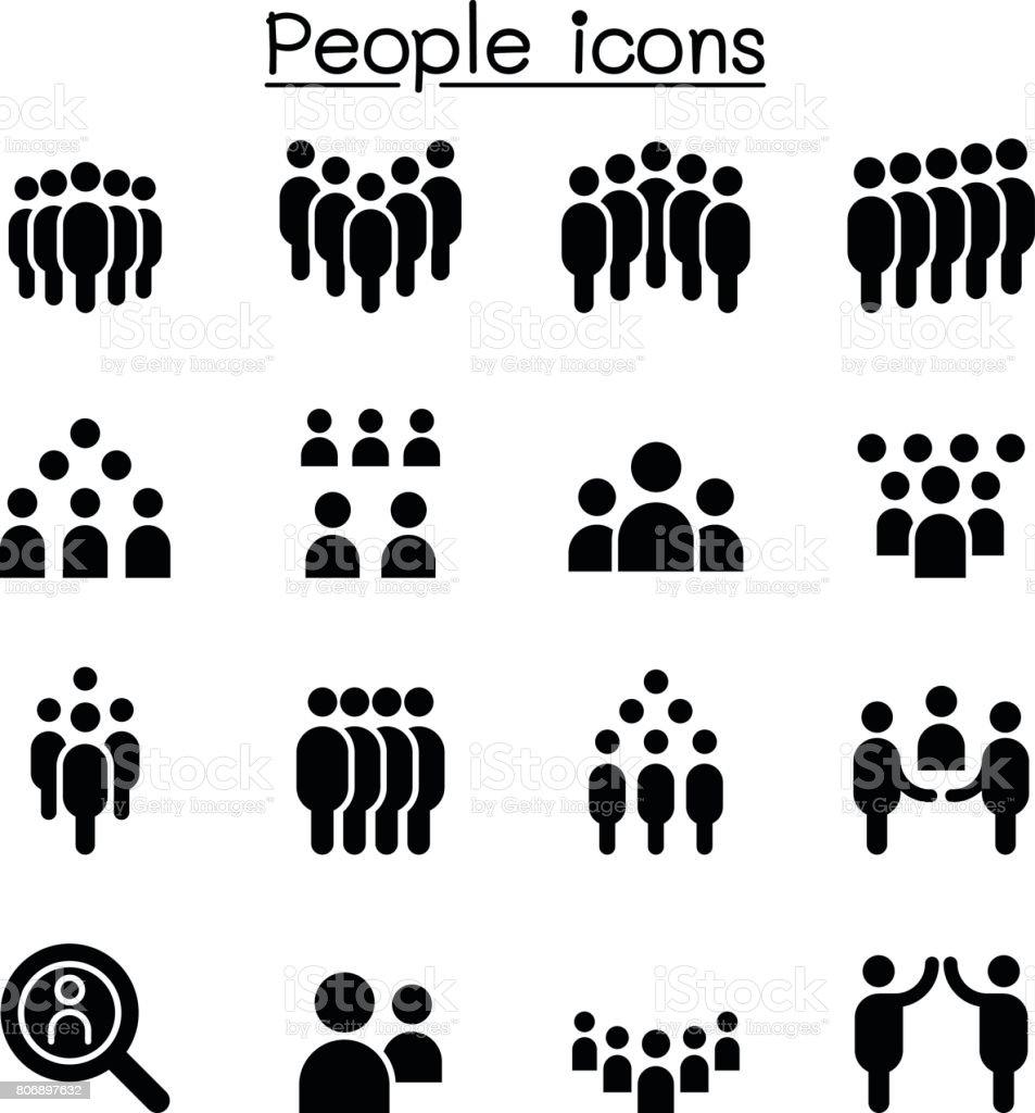 People icon set vector illustration vector art illustration