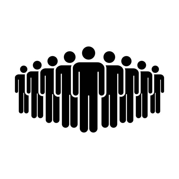 People Icon Vector Group of Men Team Person Symbol for Business Infographic Design in Glyph Pictogram People Icon Vector Group of Men Team Person Symbol for Business Infographic Design in Glyph Pictogram illustration population explosion stock illustrations