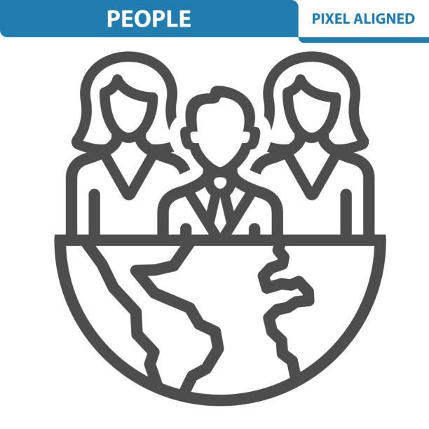 Icône de personnes - Illustration vectorielle