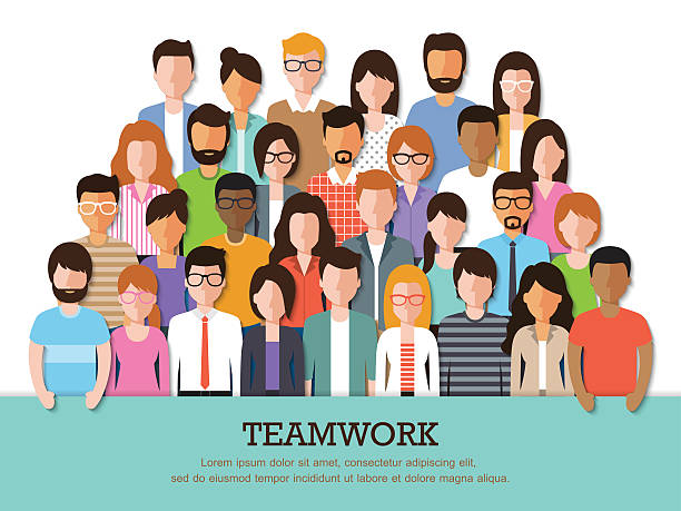 people icon - team stock illustrations, clip art, cartoons, & icons